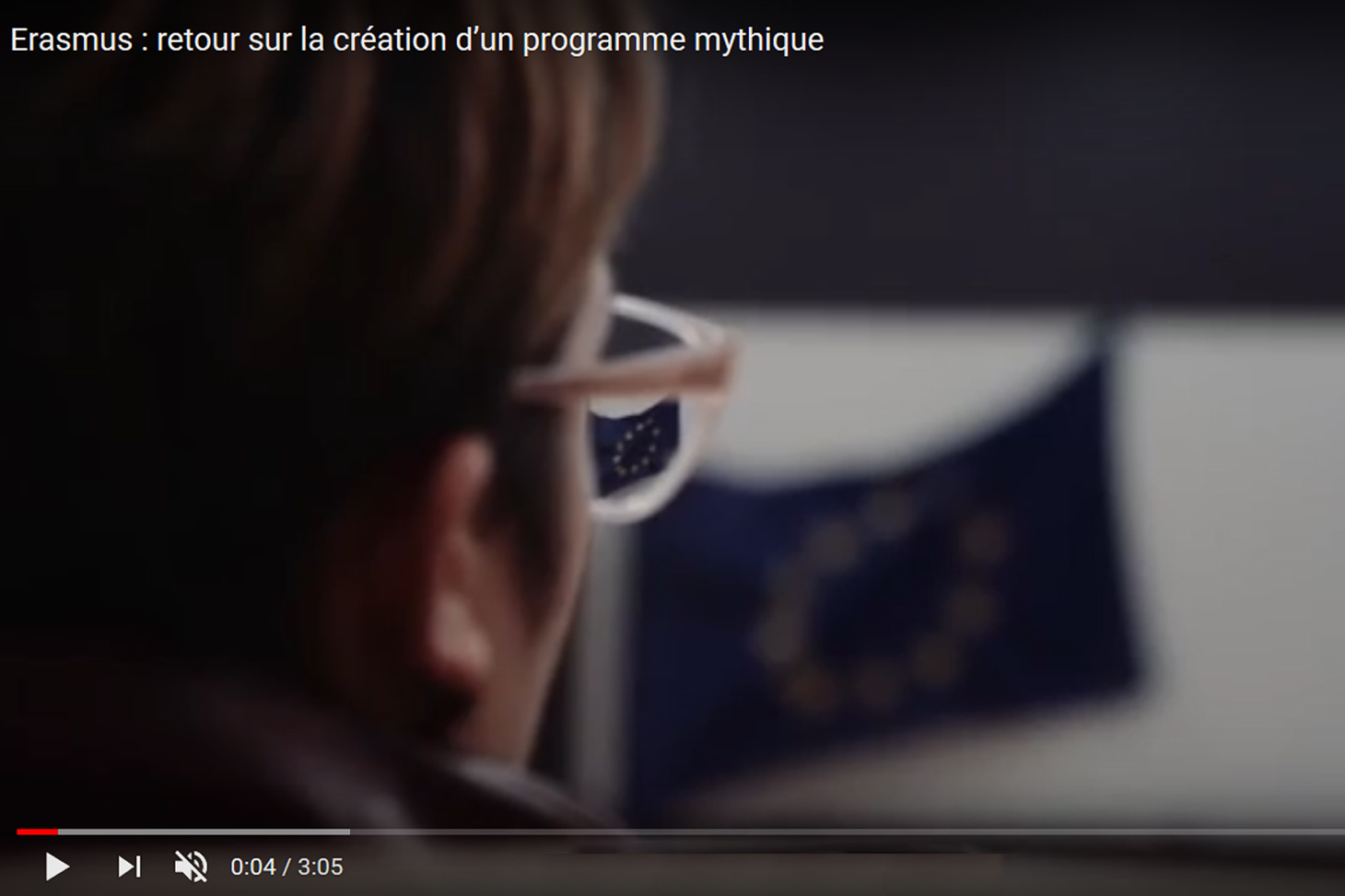 Erasmus, photo du film de Pierre Reynard sur la création de ce programme